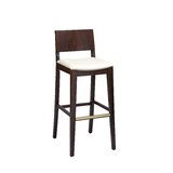 Beechwood Solid Back Upholstered Seat Bar & Counter Stool by Regal