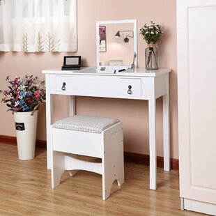 Modern Dressing Table Set With Mirror