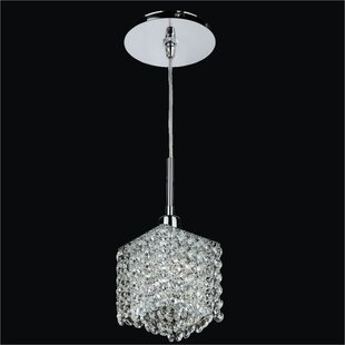 Glow Lighting Fuzion X 1-Light Crystal Mini Pendant