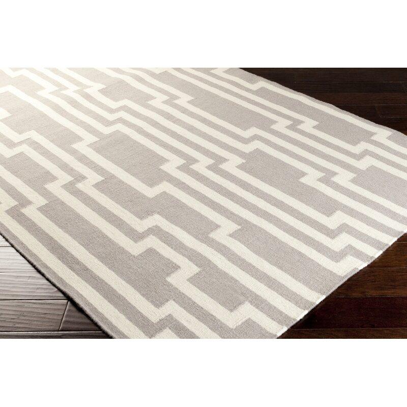 Candice Olson Carson Geometric Handwoven Wool Gray Ivory Area Rug Reviews Wayfair