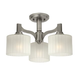 Ferguson 3-Light Semi Flush Mount by Winston Porter