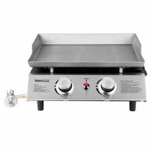 Royal Gourmet Corp Portable Propane Griddle Grill with Double Burner Stove
