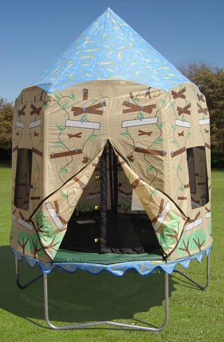 Treehouse Tr‾ Tent & Bazoongi Kids Treehouse Trampoline Tent u0026 Reviews | Wayfair