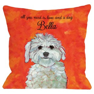 Personalized Maltese Throw Pillow by One Bella Casa Spacial Price