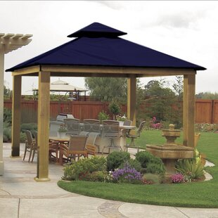 ACACIA 14 Ft. W X 14 Ft. D Aluminum Patio Gazebo