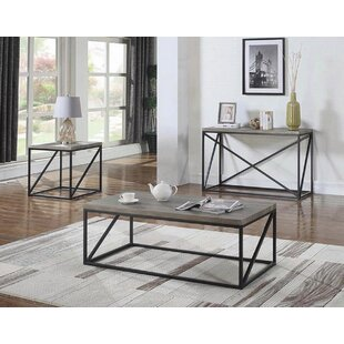 Tobey 3 Piece Coffee Table Set by Gracie Oaks