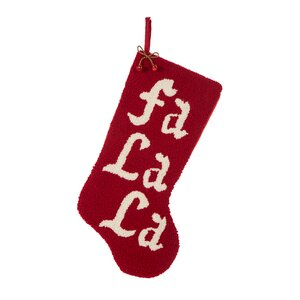 'Fa La La' Hooked Stocking