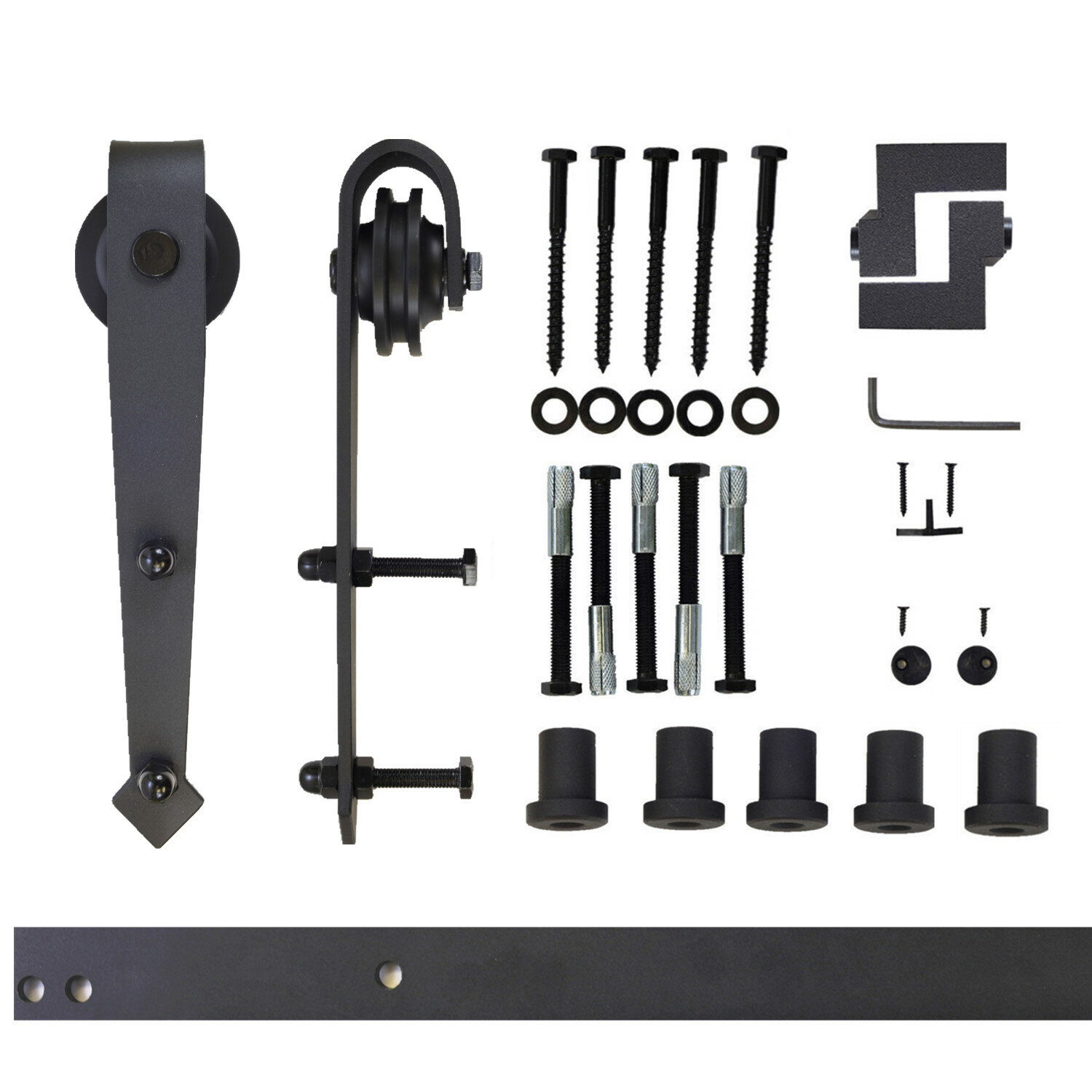 Vancleef Arrow Sliding Standard Single Track Barn Door Hardware Kit Wayfair