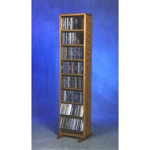 208 CD Dowel Multimedia Storage Rack By Rebrilliant