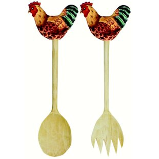 Darian Country Chicken 2 Piece Salad Servers Set by August Grove Discount