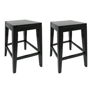 Dorian Wooden Counter 26 Bar Stool (Set of 2) by Loon Peak