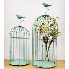 Decorative Bird Houses Cages Green Decorative Objects You Ll Love In 2021 Wayfair
