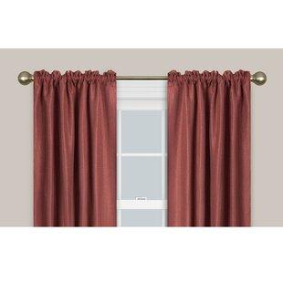 Smart Easy Install Drapery Window Curtain Single Rod by Maytex