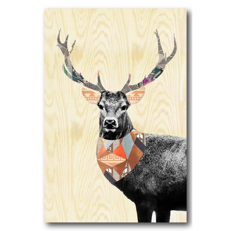 Wrought Studio Boho Deer Ii Graphic Art Print On Wrapped Canvas Wayfair