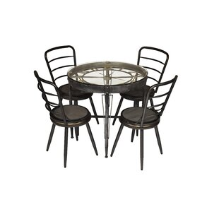 Shunk 5 Piece Dining Set (Set of 5) by Williston Forge