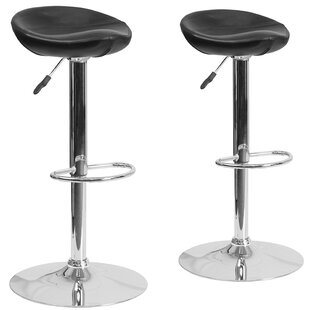 Orren Ellis Nutting Adjustable Height Swivel Bar Stool (Set of 2)