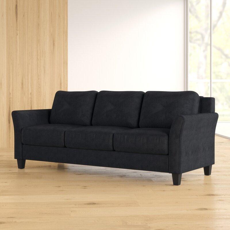 Ibiza Microfiber 80 3 Flared Arm Sofa