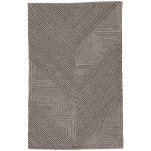 Sargeant Hand Tufted Wool December Sky Charcoal Gray Area Rug By Orren Ellis