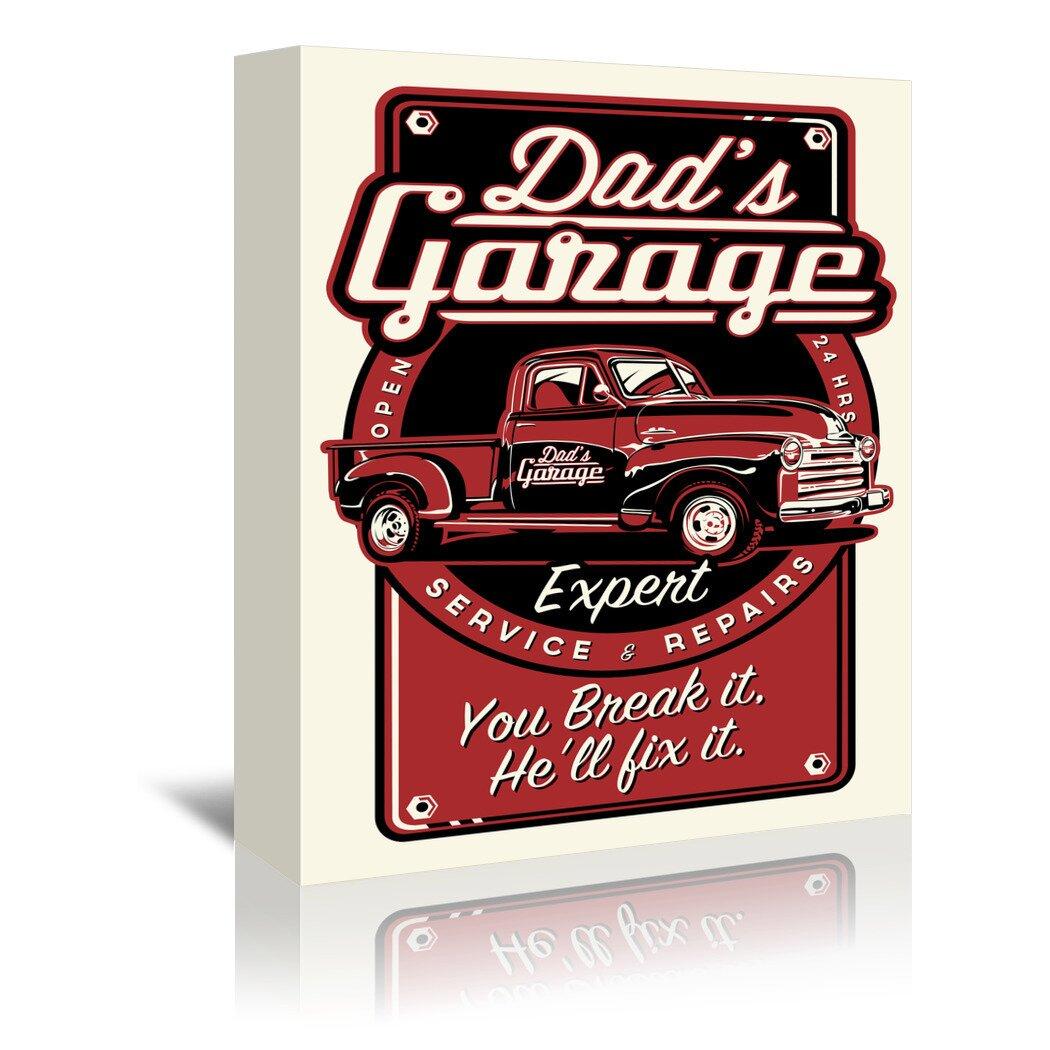 Dad's Garage Vintage Advertisement on Canvas