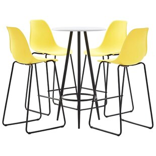 Calabria Dining Set With 4 Chairs By 17 Stories