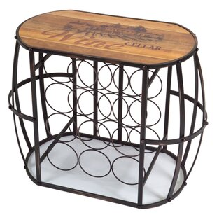 Ackerly Cask 12 Bottle Floor Wine Bottle Rack by Fleur De Lis Living