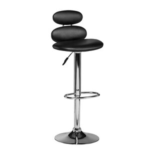 Dillon Height Adjustable Swivel Bar Stool By Symple Stuff