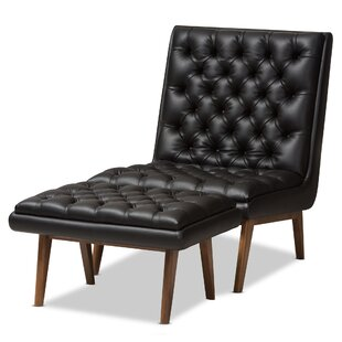 Kaylor Side Chair and Ottoman by Alcott Hill