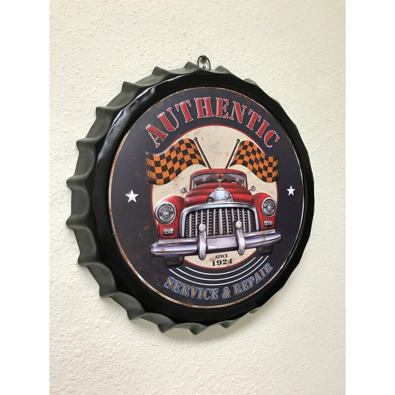 Authentic Classic Car Metal Sign Wall Decor