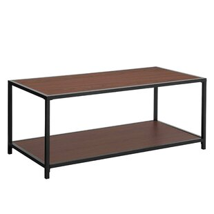 Landers Iron Frame Coffee Table with Tray Top by Williston Forge