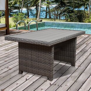 Tergel Wicker/Rattan Dining Table by Beachcrest Home