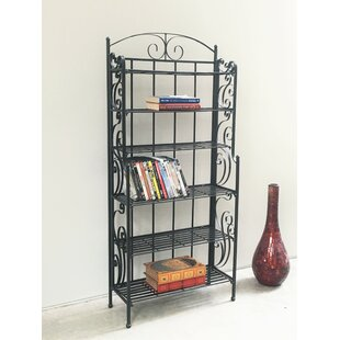 Three Posts Snowberry Six Shelf Iron CD/DVD Rack