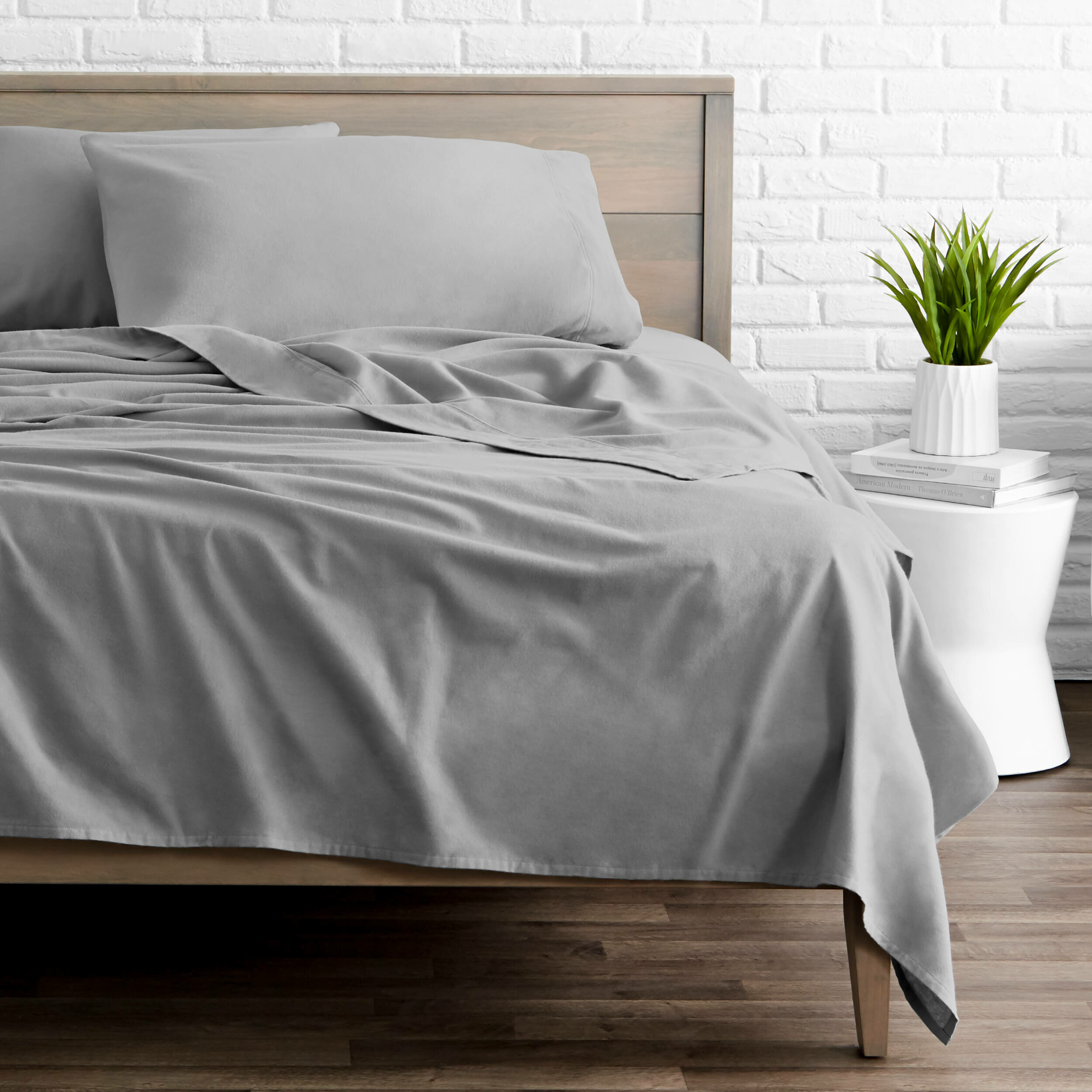 Bare Home Flannel Fitted Bottom Sheets Velvety Soft Heavyw 100/% Cotton 2 Pack