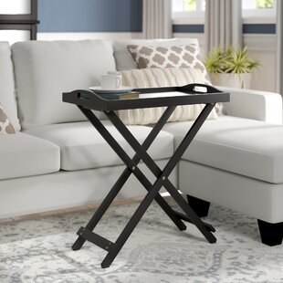 High-End Schererville Folding Tray Table By Charlton Home