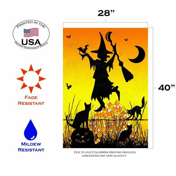 Toland Home Garden Candycorn Witch 28 X 40 Inch House Flag Wayfair