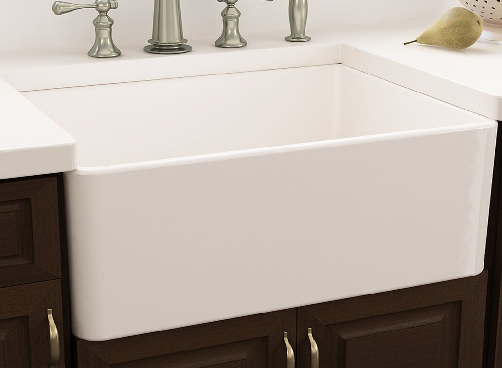 cape 30   x 18   farmhouse kitchen sink with     nantucket sinks cape 30   x 18   farmhouse kitchen sink with sink      rh   wayfair com