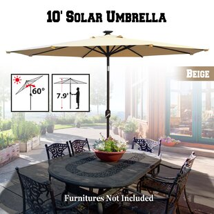 Freeport Park Yasmin Solar Patio 10' Market Umbrella