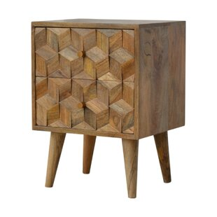 Madalynn 2 Drawer Bedside Table By World Menagerie