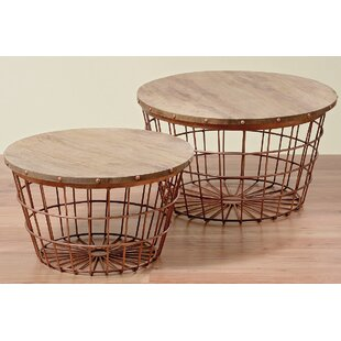 Rolen 2 Piece Wire Basket End Table Set by Bloomsbury Market