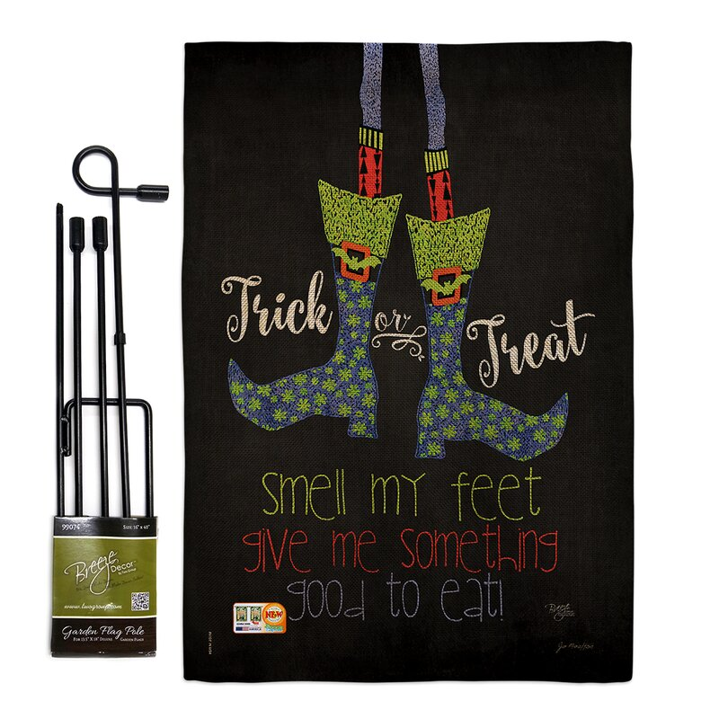 Breeze Decor Smell My Feet Fall Halloween Impressions 2 Sided Polyester 18 5 X 13 In Flag Set Wayfair