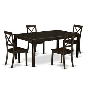 Burner 5 Piece Extendable Solid Wood Dining Set