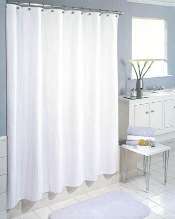 Symple Stuff Waffle Weave Cotton Shower Curtain & Reviews | Wayfair