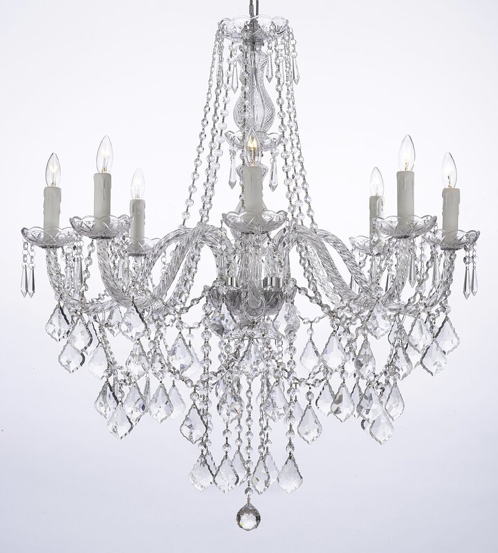 Anton 8 light crystal chandelier