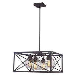 Williston Forge Newt 4-Light Lantern Pendant
