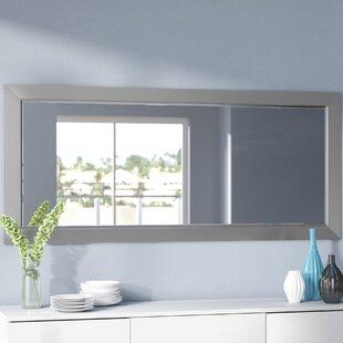 Orren Ellis Bernice Bevelled Silver Wall Mirror