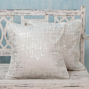 Shower Print Cotton Pillow Cover (Set of 2)