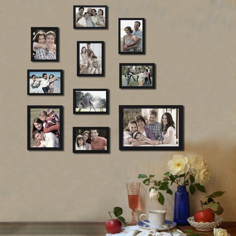 Adecotrading 10 Piece Collage Picture Frame Set Reviews Wayfair