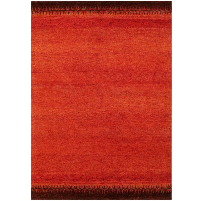 parwis handgekn pfter teppich indo gabbeh chenar in rost. Black Bedroom Furniture Sets. Home Design Ideas