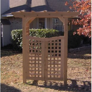 Threeman Products Classic Wood Garden Arbor with Gate