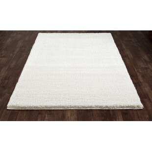 Best Reviews Hickey Plush Pile Shag White Area Rug By Winston Porter