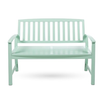 Beachcrest Home Leora Acacia Wood Garden Bench Color: Light Mint